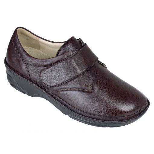 Berkemann tépőzáras cipő Denise bőr/sztreccs sötétbarna