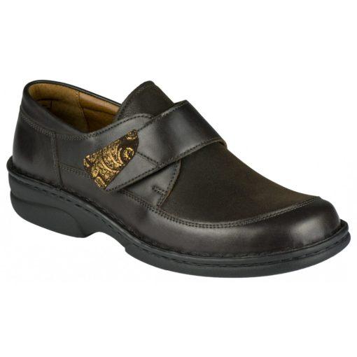 Berkemann tépőzáras cipő Uta bőr/sztreccs barna