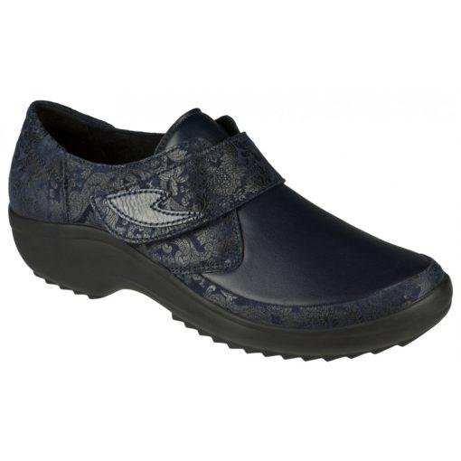Berkemann tépőzáras cipő Talia bőr/sztreccs virágos kék