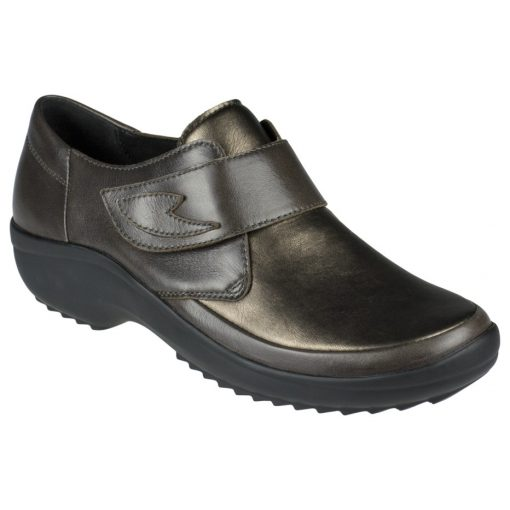 Berkemann tépőzáras cipő Talia bőr/sztreccs barna bronz