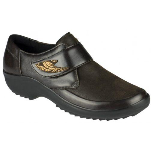 Berkemann tépőzáras cipő Talia bőr/sztreccs sötétbarna