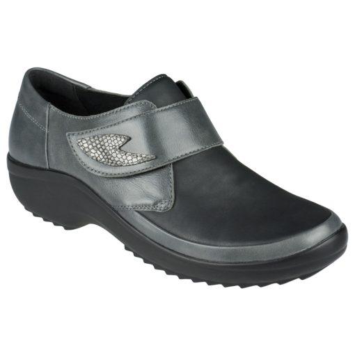 Berkemann tépőzáras cipő Talia bőr/sztreccs szürke