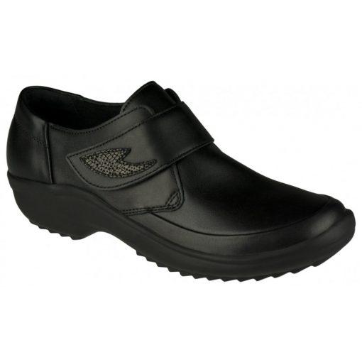 Berkemann tépőzáras cipő Talia bőr/sztreccs fekete