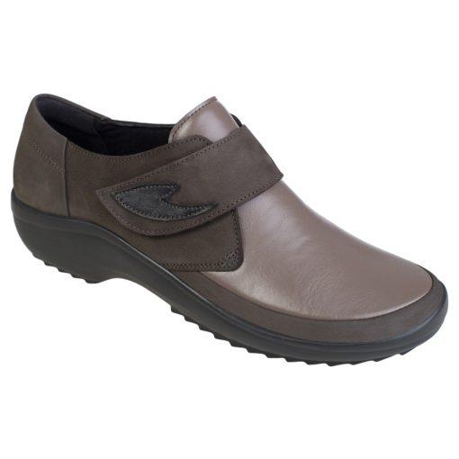 Berkemann tépőzáras cipő Talia bőr/sztreccs barna