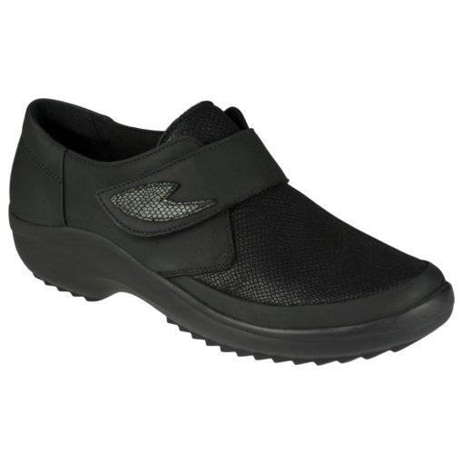 Berkemann tépőzáras cipő Talia nubuk/sztreccs fekete