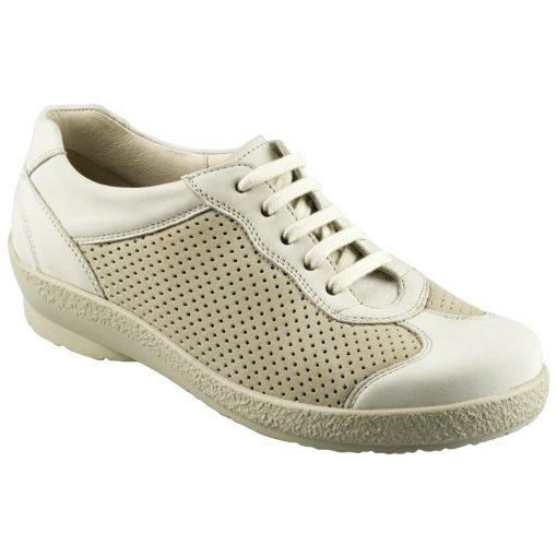 Berkemann lyukacsos fűzős cipő Sophie nubuk/sztreccs bézs