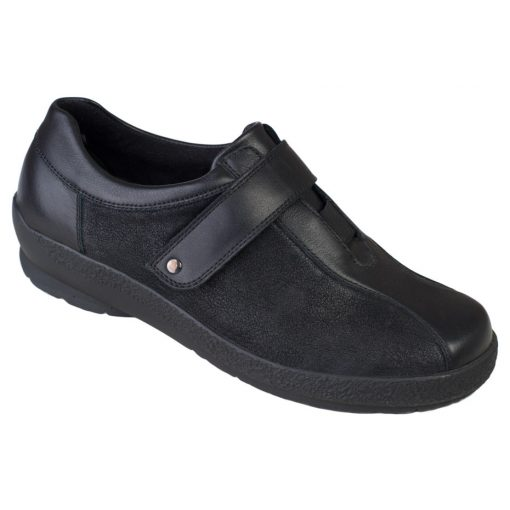 Berkemann tépőzáras cipő Josie bőr/sztreccs fekete