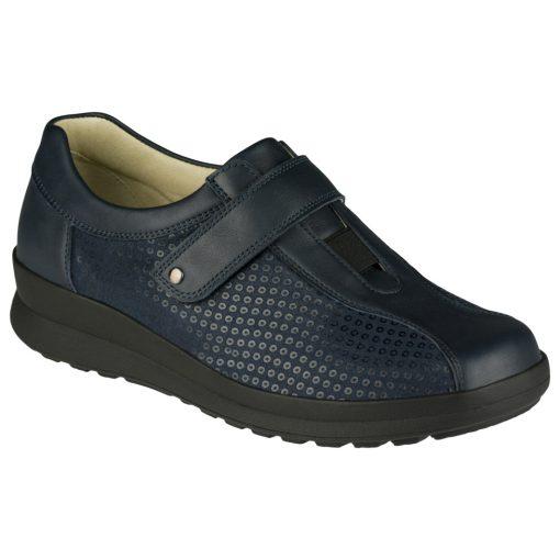 Berkemann tépőzáras cipő Susanna bőr/sztreccs sötétkék