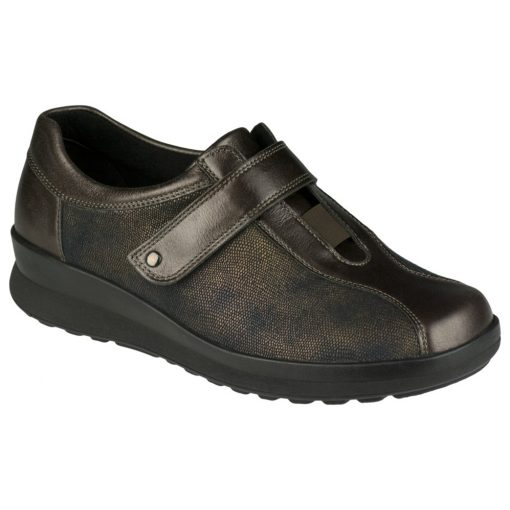 Berkemann tépőzáras cipő Susanna bőr/sztreccs barna bronz