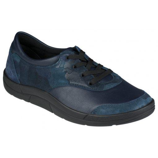 Berkemann fűzős cipő Alita bőr/sztreccs sötétkék