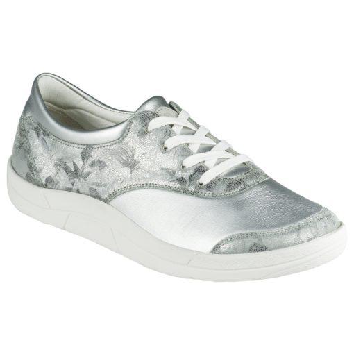 Berkemann fűzős cipő Alita bőr/sztreccs mintás ezüst