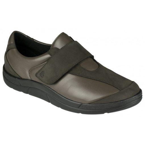 Berkemann tépőzáras cipő Henni bőr/sztreccs sötétszürke