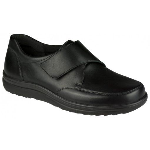 Berkemann tépőzáras cipő Daniel bőr/sztreccs fekete