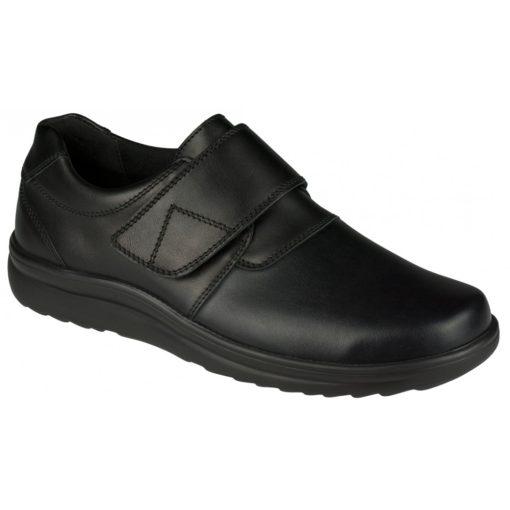 Berkemann tépőzáras cipő Georg bőr/sztreccs fekete