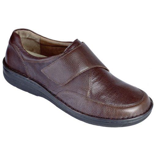 Berkemann tépőzáras cipő Markus bőr/sztreccs barna