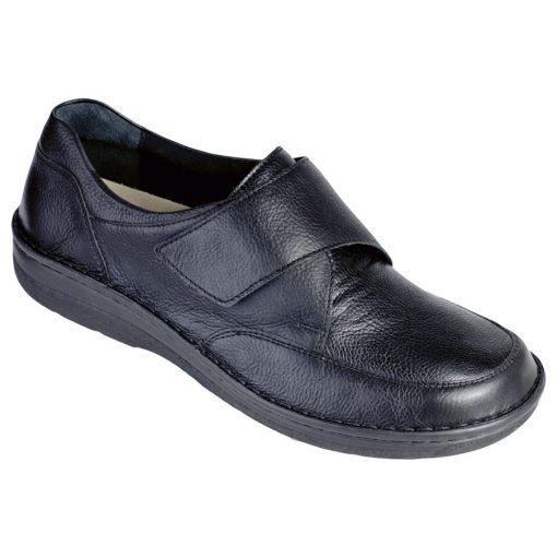 Berkemann tépőzáras cipő Markus bőr/sztreccs fekete