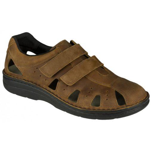 Berkemann lyukacsos tépőzáras cipő Joost bőr sötétbarna