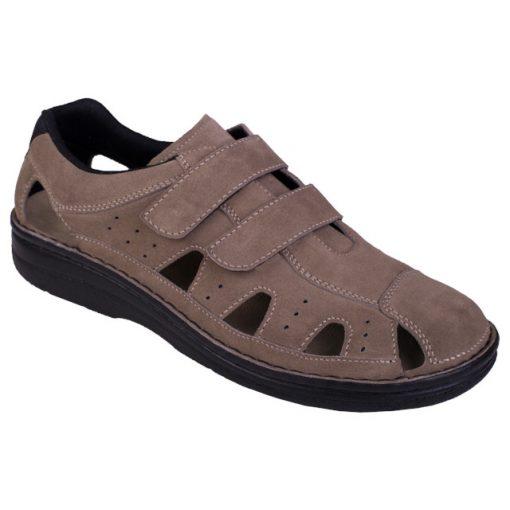 Berkemann lyukacsos tépőzáras cipő Joost velúrbőr drapp