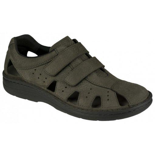 Berkemann lyukacsos tépőzáras cipő Joost nubuk sötétszürke