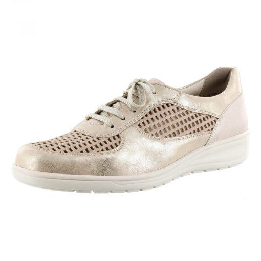 Solidus lyukacsos fűzős cipő Heaven bőr bézs