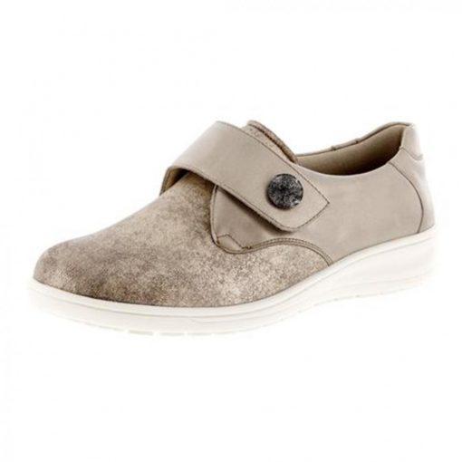 Solidus tépőzáras cipő Kate bőr/sztreccs bézs