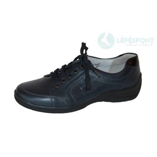 Waldläufer kényelmi fűzős cipő női Hesna bőr sötétkék