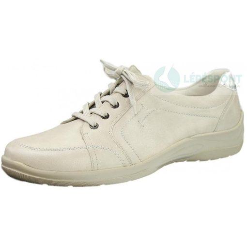 Waldlaufer kényelmi fűzős cipő Hesna bőr világos drapp