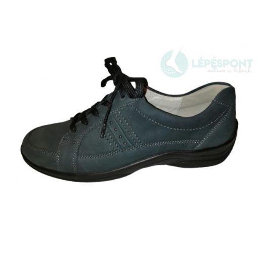 Waldlaufer kényelmi fűzős női cipő Hesna nubuk kék