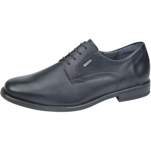 Waldlaufer kényelmi fűzős cipő Henry bőr fekete