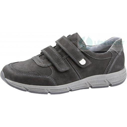 Waldlaufer kényelmi tépőzáras cipő Haslo nubuk fekete