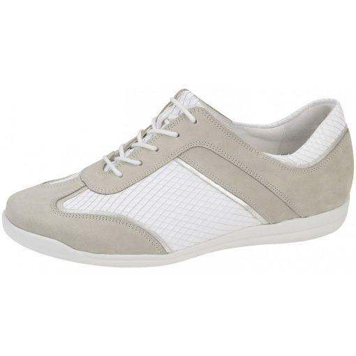 Waldlaufer kényelmi fűzős női cipő Horta bőr/kígyőbőr fehér/drapp