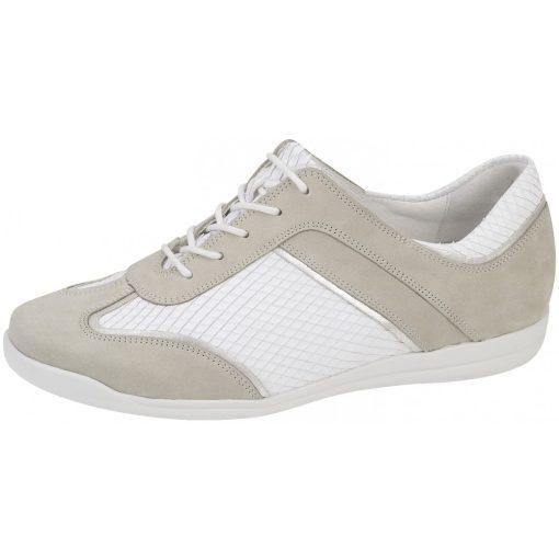 Waldlaufer kényelmi fűzős cipő Horta bőr/kígyőbőr fehér/drapp