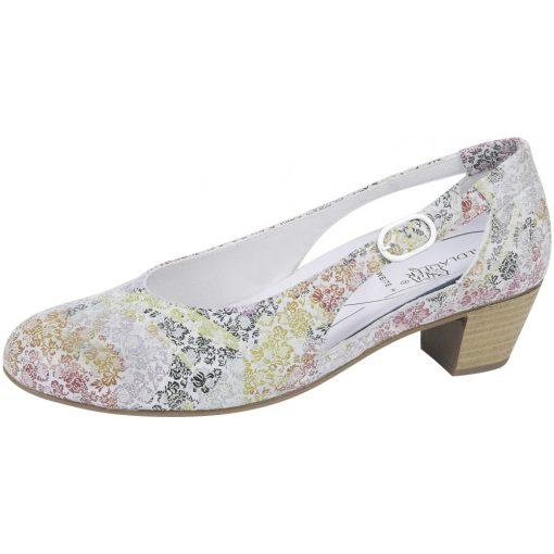 Waldlaufer kényelmi belebújós cipő Hilaria bőr virágos színes