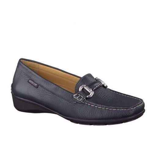 Mephisto belebújós mokaszín cipő Natala bőr kék