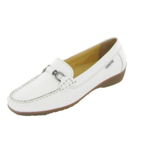 Mephisto belebújós mokaszín cipő Daniela bőr fehér