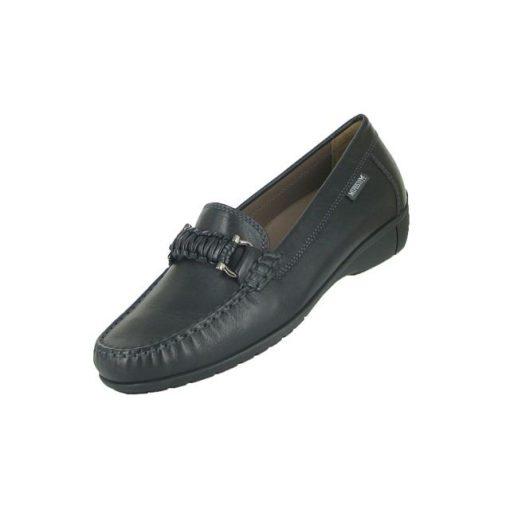Mephisto belebújós mokaszín cipő Debora bőr fekete