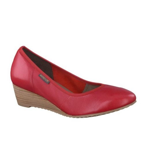Mephisto belebújós magastalpú félcipő Emmy bőr piros