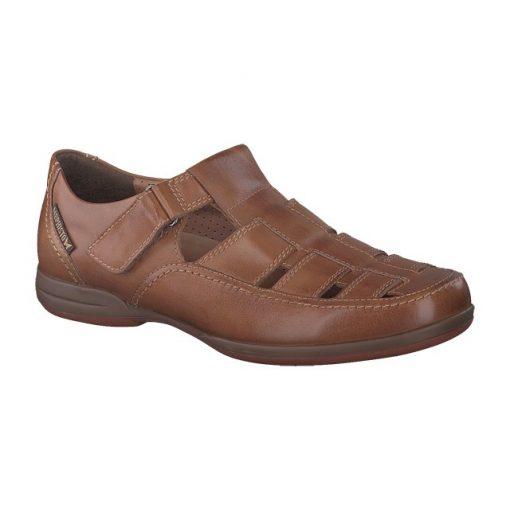 Mephisto tépőzáras lyukacsos cipő Rafael bőr barna