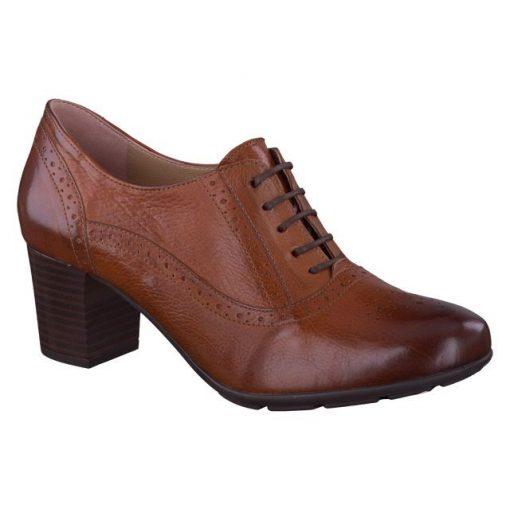 Mephisto fűzős magassarkú cipő Lizzie bőr barna