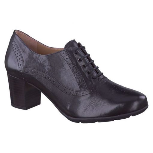 Mephisto fűzős magassarkú cipő Lizzie bőr fekete