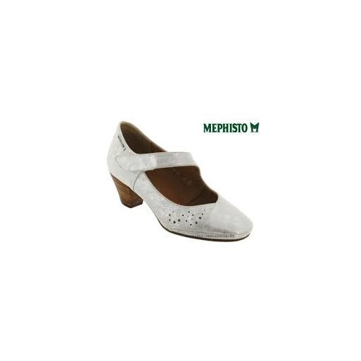 Mephisto tépőzáras magassarkú cipő Patty bőr fehér
