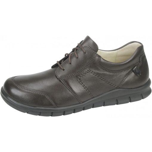 Waldlaufer kényelmi fűzős cipő Hector bőr barna