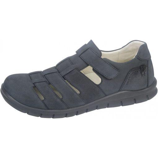 Waldlaufer kényelmi lyukacsos tépőzáras cipő Hector nubuk kék