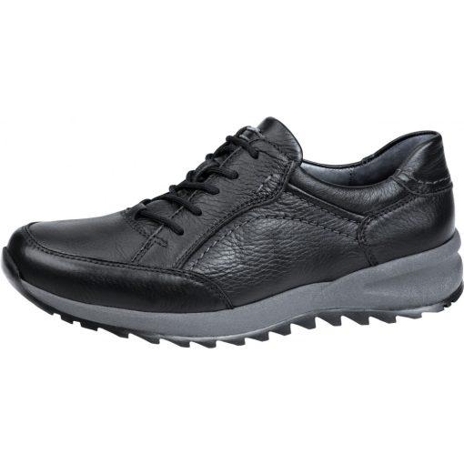 Waldlaufer kényelmi fűzős cipő Helle bőr fekete