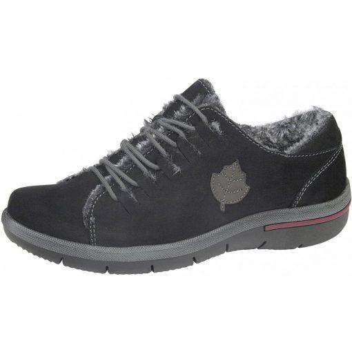 Waldlaufer kényelmi fűzős bélelt cipő Hadessa nubuk fekete