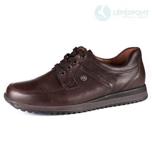 Waldlaufer kényelmi fűzős férfi cipő Hagen bőr sötétbarna