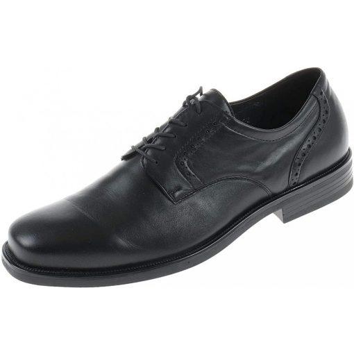 Waldlaufer kényelmi elegáns fűzős cipő Harry bőr fekete