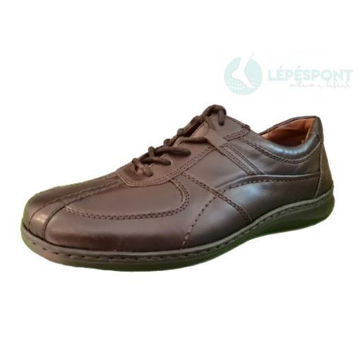 Waldlaufer kényelmi fűzős cipő Herwig bőr sötétbarna