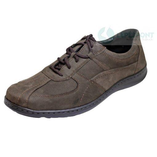 Waldlaufer kényelmi fűzős cipő Herwig nubuk sötétzöld