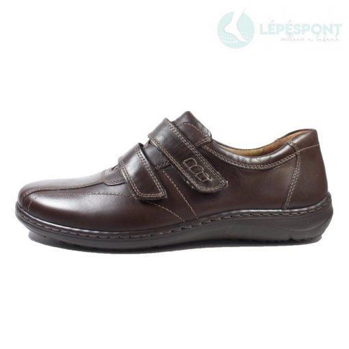 Waldlaufer kényelmi tépőzáras cipő Herwig bőr sötétbarna